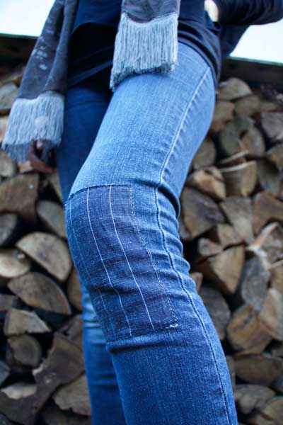 Customising – Patched denim jeans