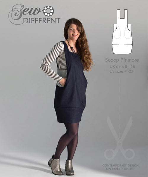 Scoop Pinafore – Multisize sewing pattern on paper or to download