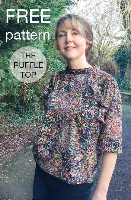 Ruffle Top – FREE single size sewing pattern