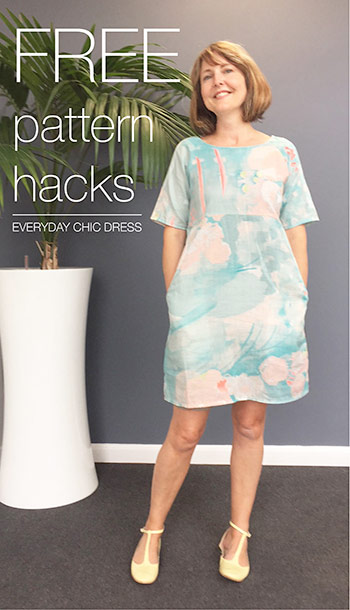 Pattern hacks for the Everyday Chic Dress