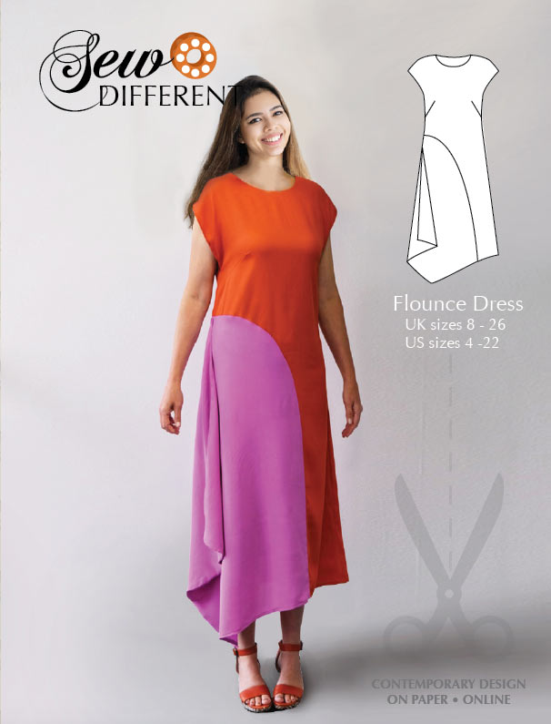 The Flounce Dress – Multisize sewing pattern on paper & online
