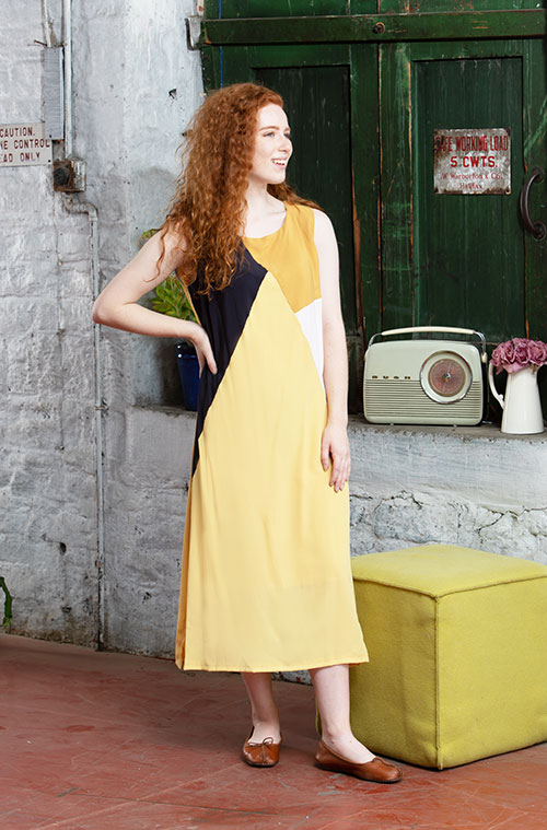 Revamp of the Colourblock Dress – now with sleeves!